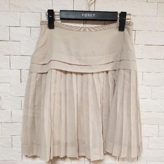 トゥモローランド(TOMORROWLAND)の美品Tomorrowland BALLSEY トゥモローランド プリーツスカート(ひざ丈スカート)