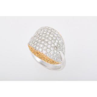 750WG/YG ダイヤモンド ・イエローダイヤモンド リング 品番7-147(リング(指輪))