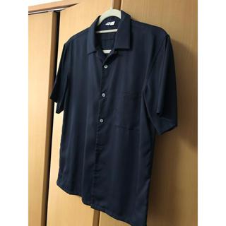 ユニクロ(UNIQLO)のユニクロ ルメール コラボ U 黒無地シャツ(シャツ)