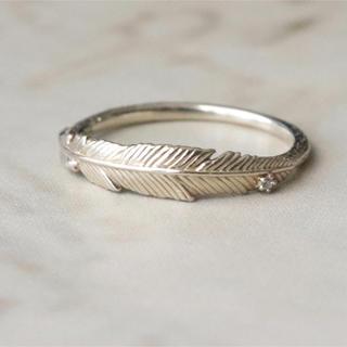 アガット(agete)のアガット フェザー リング ダイヤ付き k10(リング(指輪))