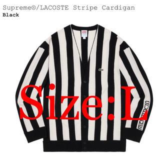 シュプリーム(Supreme)のsupreme×LACOSTE Stripe Cardigan(カーディガン)