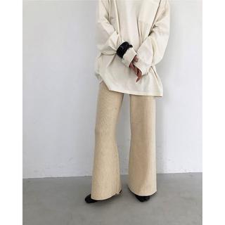 トゥデイフル(TODAYFUL)のT01026/TODAYFUL Flare Knit Pants ECRU38(その他)