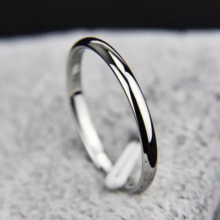 甲丸ステンレスリング 重ね付け シンプル アレルギー対応 指輪 シルバー(リング(指輪))