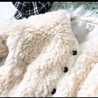 プティマイン(petit main)のボア ブルゾン 韓国子供服 ベビー 90 (ジャケット/上着)