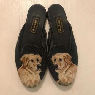 ロキエ(Lochie)のヴィンテージ   サンダル ミュールdog犬  jantiques (サンダル)