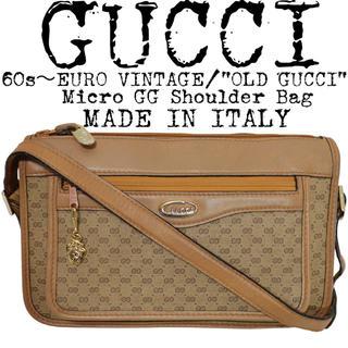 グッチ(Gucci)の★GUCCI★オールドグッチ★60s★マイクロGG ショルダーバッグ★イタリア製(ショルダーバッグ)
