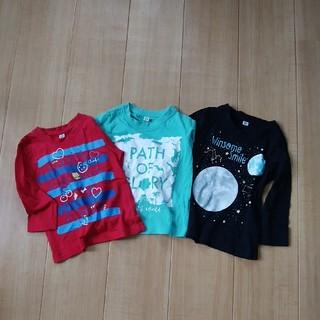 しまむら - Tシャツ 長袖 80サイズ 3枚セット