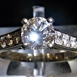 Pt950 カルティエ Cartier ソリテールリング 婚約指輪(リング(指輪))