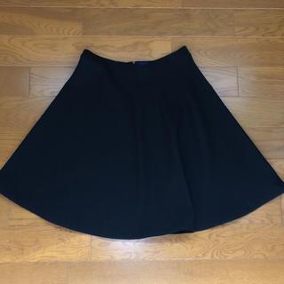 デプレ(DES PRES)の値下げ DES PRÉS ひざ丈フレアスカート 黒 サイズ0(ひざ丈スカート)