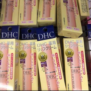 ディーエイチシー(DHC)の新品未使用DHC薬用リップクリーム12本 と 眉墨鉛筆ダークブラウン4本 セット(リップケア/リップクリーム)