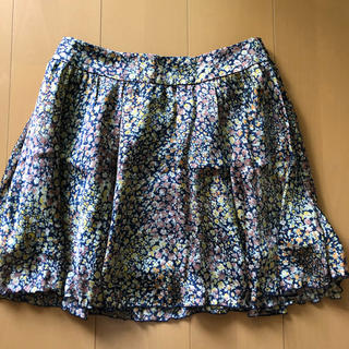 プーラフリーム(pour la frime)のミニスカート フレアスカート 花柄(ミニスカート)