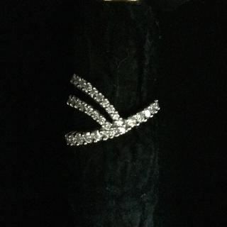 KARATI k18 WG ダイヤモンドピンキーリング (リング(指輪))