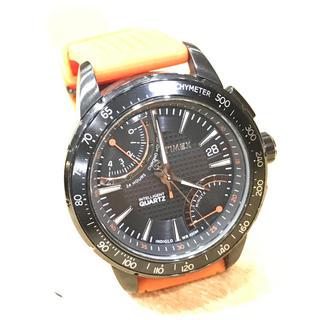 タイメックス(TIMEX)のタイメックス【電池交換済【オレンジ(腕時計(アナログ))