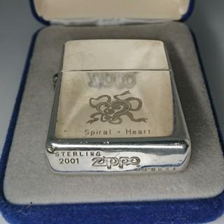 ジッポー(ZIPPO)のZippo スターリングシルバー スパイラルハート テープ(タバコグッズ)