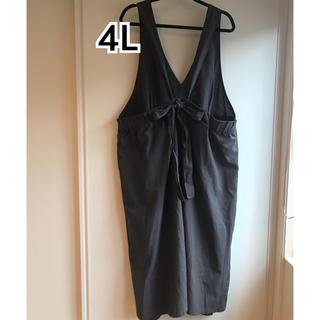 シマムラ(しまむら)の新品タグ付き 4L バックリボンスカート(ひざ丈スカート)