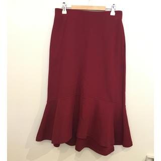 ユニクロ(UNIQLO)のユニクロ 裾フレア ウエストゴム ミモレスカート #Cattleya 909(ひざ丈スカート)