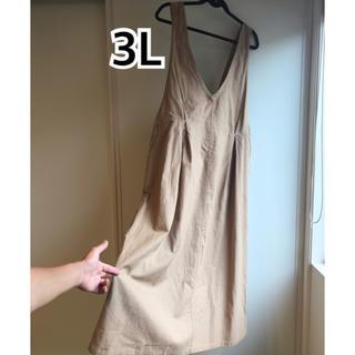 シマムラ(しまむら)の新品未使用 3L バックリボンスカート(ひざ丈スカート)