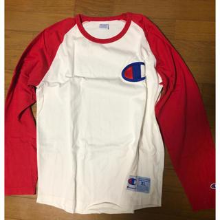 ロデオクラウンズワイドボウル(RODEO CROWNS WIDE BOWL)のchampionTシャツ(Tシャツ/カットソー(七分/長袖))