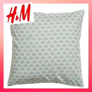 エイチアンドエム(H&M)のH&M クッションカバー シェル グリーン (クッションカバー)