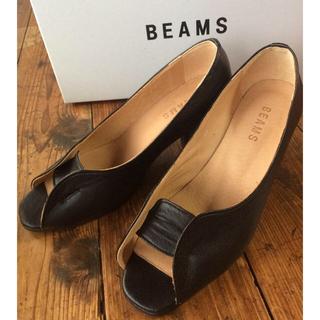 レイビームス(Ray BEAMS)の[靴底補強済み]ビームス オープントゥパンプス 黒 23(ハイヒール/パンプス)