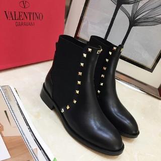 レッドヴァレンティノ(RED VALENTINO)のvalentinoヴァレンティノ レディース ブーツ 黒 24cm(ブーツ)