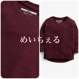 ネクスト(NEXT)の【新品】next プラム テクスチャード長袖Tシャツ(ヤンガー)(シャツ/カットソー)