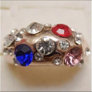 即購入OK*訳ありラインストーンのピンクゴールド指輪大きいサイズC39(リング(指輪))