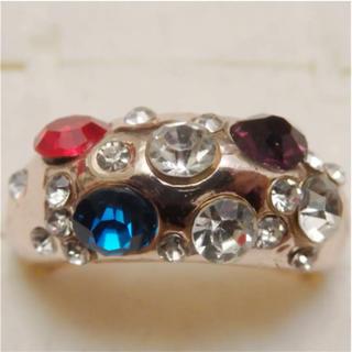 即購入OK*訳ありラインストーンのピンクゴールド指輪大きいサイズC40(リング(指輪))