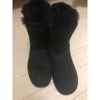 アグ(UGG)のUGGムートンブーツ黒(ブーツ)