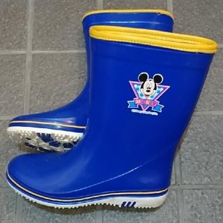 ムーンスター(MOONSTAR )のMOON-STAR ミッキーマウス レインブーツ 21cm 青 子供用日本製長靴(長靴/レインシューズ)