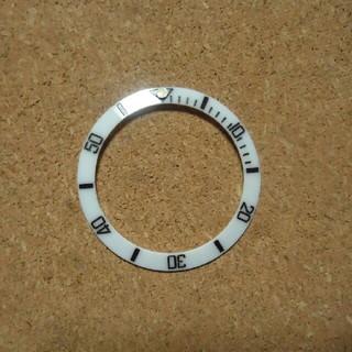セイコー(SEIKO)の社外品 SEIKO セラミック製 ボーイ用ベゼルインサート サブタイプ  白 (腕時計(アナログ))