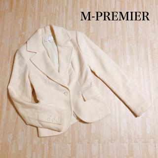 エムプルミエ(M-premier)のM-PREMIER エムプルミエ ジャケット アイボリー 秋冬 アンゴラ混♡(テーラードジャケット)