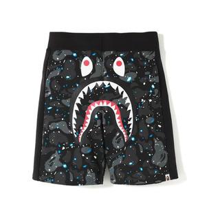 A BATHING APE - Bape shark space camo short pants