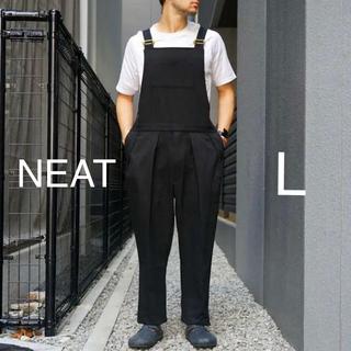 コモリ(COMOLI)の19AW NEAT Cotton Kersey OVERALL BLACK L(サロペット/オーバーオール)