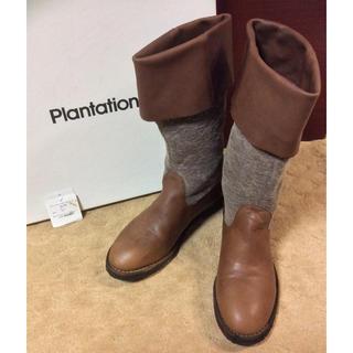 プランテーション(Plantation)の★プランテーション★ハーフブーツ★ブラウン★24.5★Plantation (ブーツ)