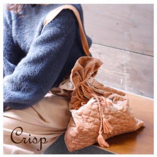 クリスプ(Crisp)のCrisp キルティングベロア巾着バック  トートバッグ(トートバッグ)