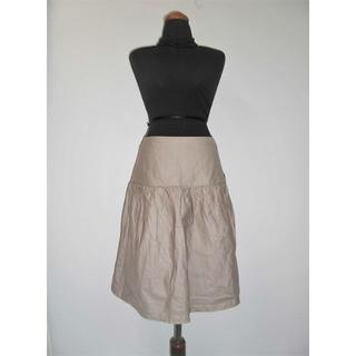 カルバンクライン(Calvin Klein)の新品カルバンクラインCKティアードフレアスカート6グレージュベージュ$447(ひざ丈スカート)