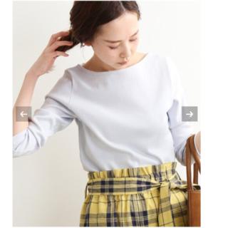 イエナ(IENA)の新品タグ付⭐︎AURALEE IEMA別注ボートネックTシャツ(Tシャツ(長袖/七分))