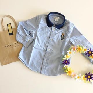 Ralph Lauren - 新品♡ラルフローレン♡ポロベア シャツ 長袖 24M 90 完売品 くま ベア