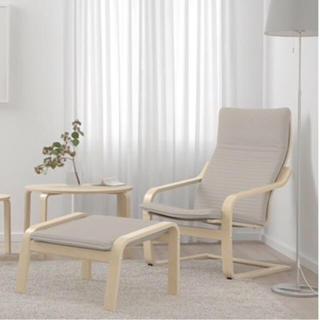 イケア(IKEA)の【春さま専用専用】IKEA POÄNG ポエングオットマンのみ(オットマン)