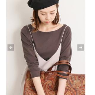イエナ(IENA)の新品タグ付⭐︎AURALEE IENA別注ボートネックTシャツ(Tシャツ(長袖/七分))