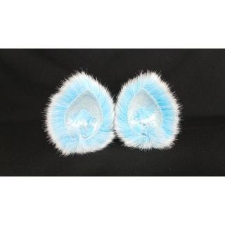 【 ブルーネコミミ 】ヘアピンねこみみ◆青いねこ耳◆髪に着けられる猫耳(ヘアアクセサリー)