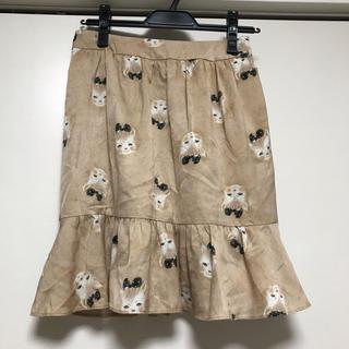 フランシュリッペ(franche lippee)の秋色 ふさふさねこスカート(ひざ丈スカート)