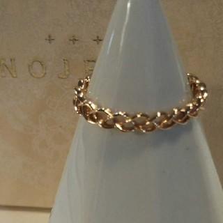 ノジェス(NOJESS)のノジェス K10 リング 5号 透かし 編み レイヤード 美品(リング(指輪))