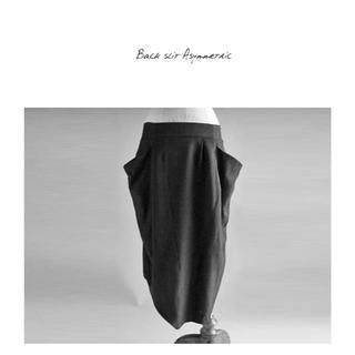 アンティカ(antiqua)の完売品 antiqua patterntorso アシメモードスカート ブラック(ロングスカート)