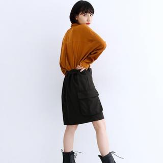 メルロー(merlot)のmerlot サイドポケットボックスミニスカート タグ付き(ひざ丈スカート)