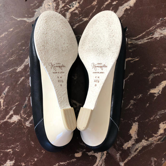 GINZA Kanematsu(ギンザカネマツ)の美品 銀座かねまつ 履きやすいレザーフリンジウェッジソールパンプス レディースの靴/シューズ(ハイヒール/パンプス)の商品写真