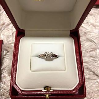 カルティエ(Cartier)のリング カルティエ Cartier バレリーナ 婚約指輪 0.4  49号(リング(指輪))
