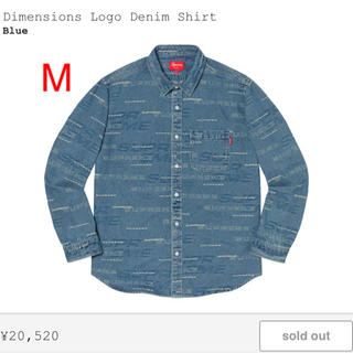 シュプリーム(Supreme)のSupreme Dimensions logo denim shirt M(シャツ)