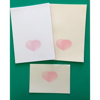 ハート  便箋  メッセージカード  メモ(カード/レター/ラッピング)